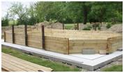 Montage d'une piscine en bois