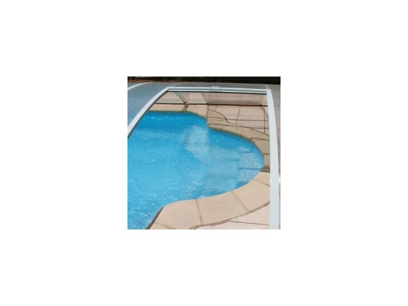 Abri bas clair pour piscine amovible sp cial terrasse for Escalier piscine amovible