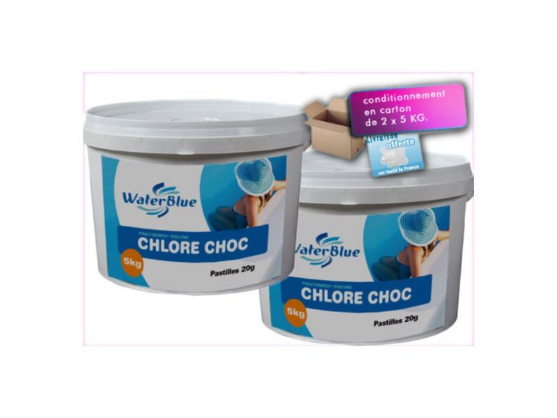 Traitement chlore choc en pastille waterblue piscine - Piscine trouble apres chlore choc ...