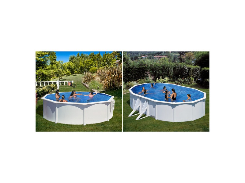 piscine acier blanc gr pas ch re azores borabora piscine center net. Black Bedroom Furniture Sets. Home Design Ideas