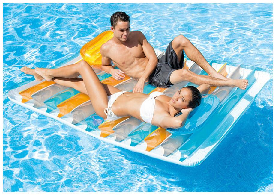 intex matelas gonflable double pour piscine piscine. Black Bedroom Furniture Sets. Home Design Ideas