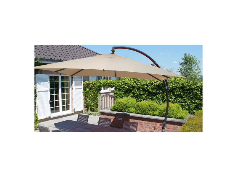 Parasol en toile polyester carr piscine center net for Piscine coque polyester portugal