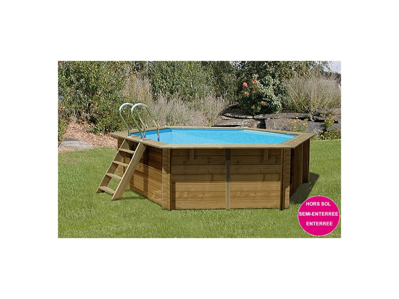 Woodfirst original piscine en bois hexagonale piscine for Projecteur piscine bois