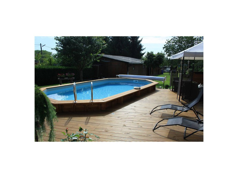 Woodfirst original kit octo allong 551x351 h 120 cm for Piscine bois reunion