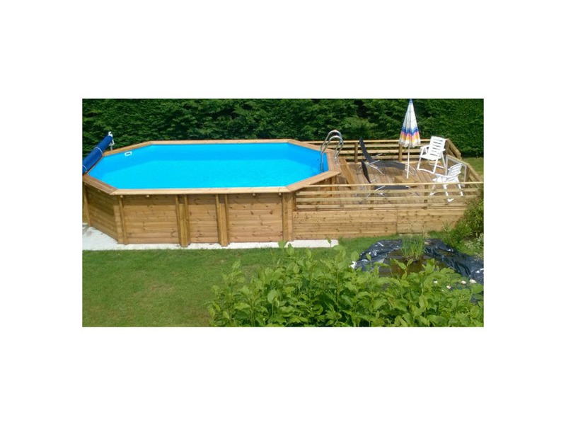 Woodfirst original kit complet octo allong piscine bois for Projecteur piscine bois
