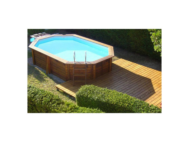Woodfirst original kit complet octo allong piscine bois for Achat liner pour piscine octogonale
