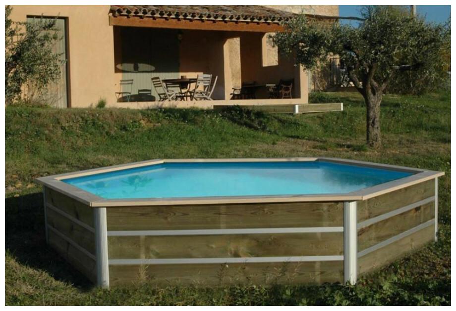 Piscine bois waterclip hauteur 58cm pour enfants piscine for Piscine center