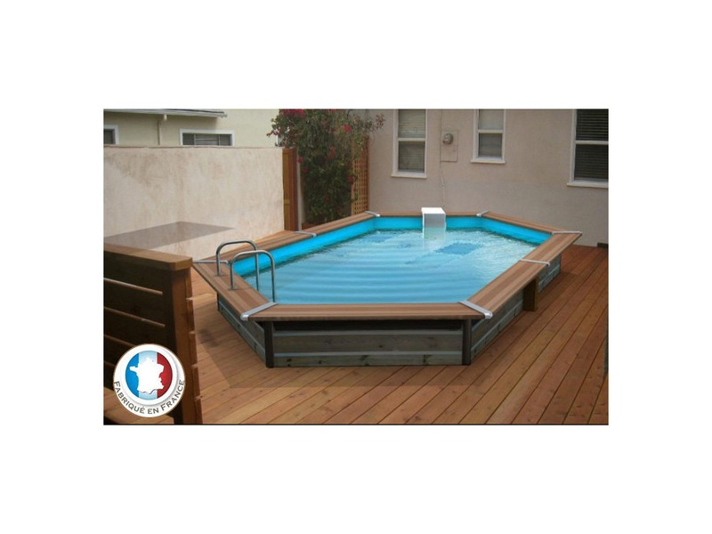 piscine bois waterclip octogonale allong e hauteur 147cm piscine center net. Black Bedroom Furniture Sets. Home Design Ideas