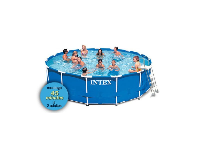 Piscine intex metal frame ronde pas ch re piscine for Piscine tubulaire intex 4 57 x 1 22m