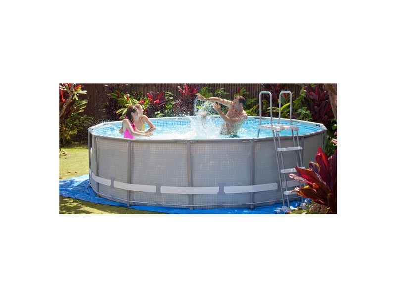 Piscine hors sol ultra frame intex piscine center net for Piscine tubulaire intex 4 57 x 1 22m