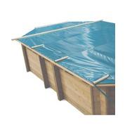 Baches à barres pour piscine bois original 436 x 336