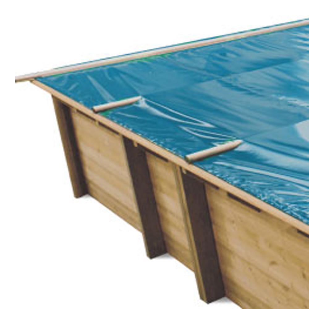 Baches à barres pour piscine bois original 620 x 420