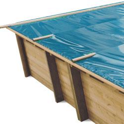 Baches à barres pour piscine bois Original 815 x 420