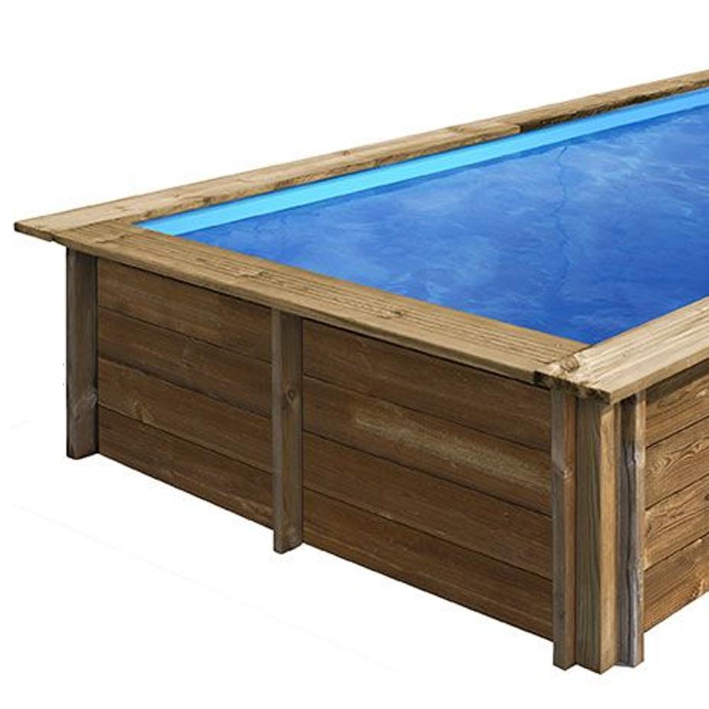 bâches été pour piscine bois original 305 x 305