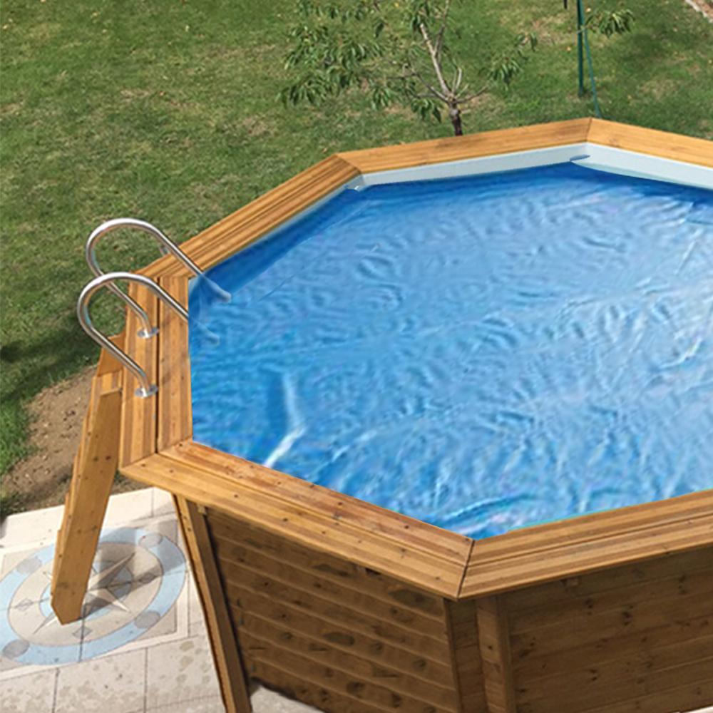 Baches été pour piscine bois original 434 x 434