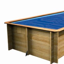 Baches été pour piscine bois original 815 x 420