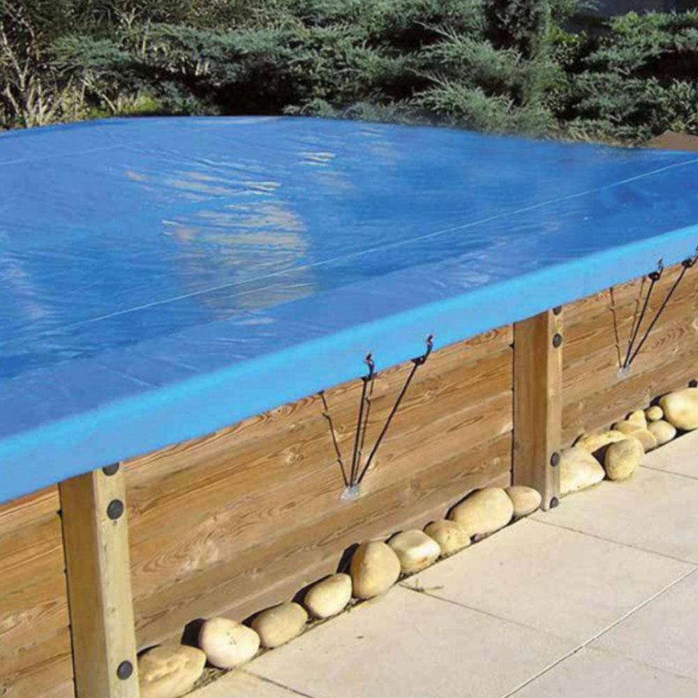 Bâches hiver pour piscine bois Original 305 x 305
