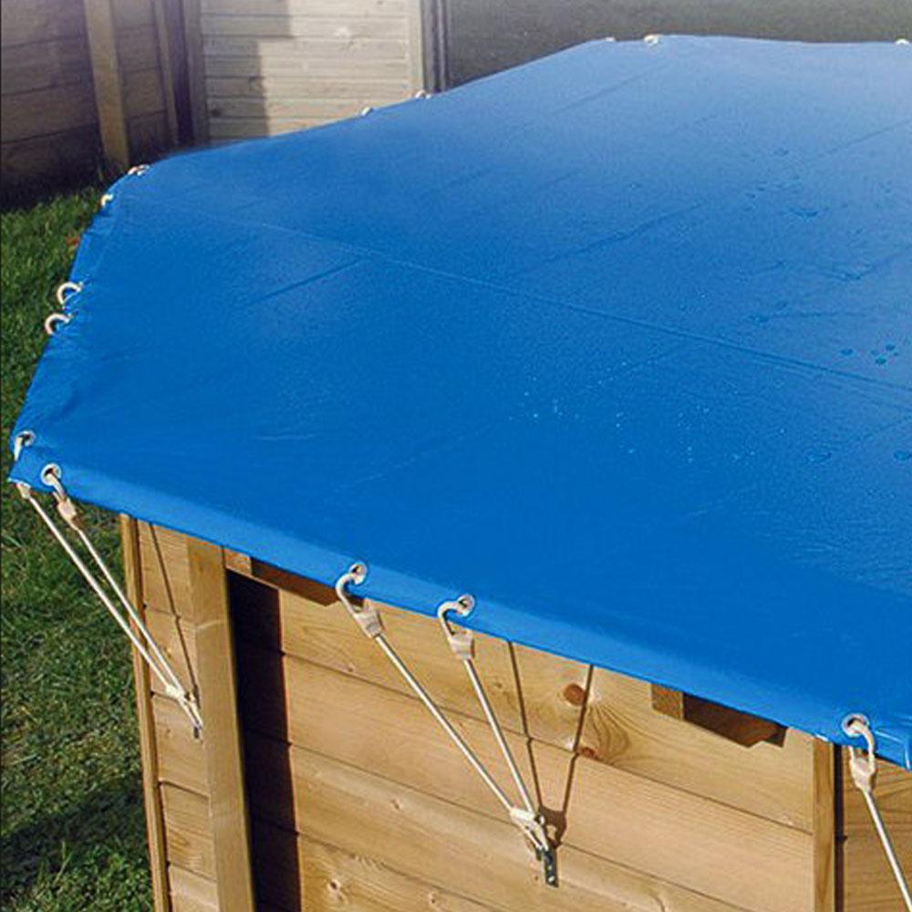 Bâches hiver pour piscine bois original 400 x 120