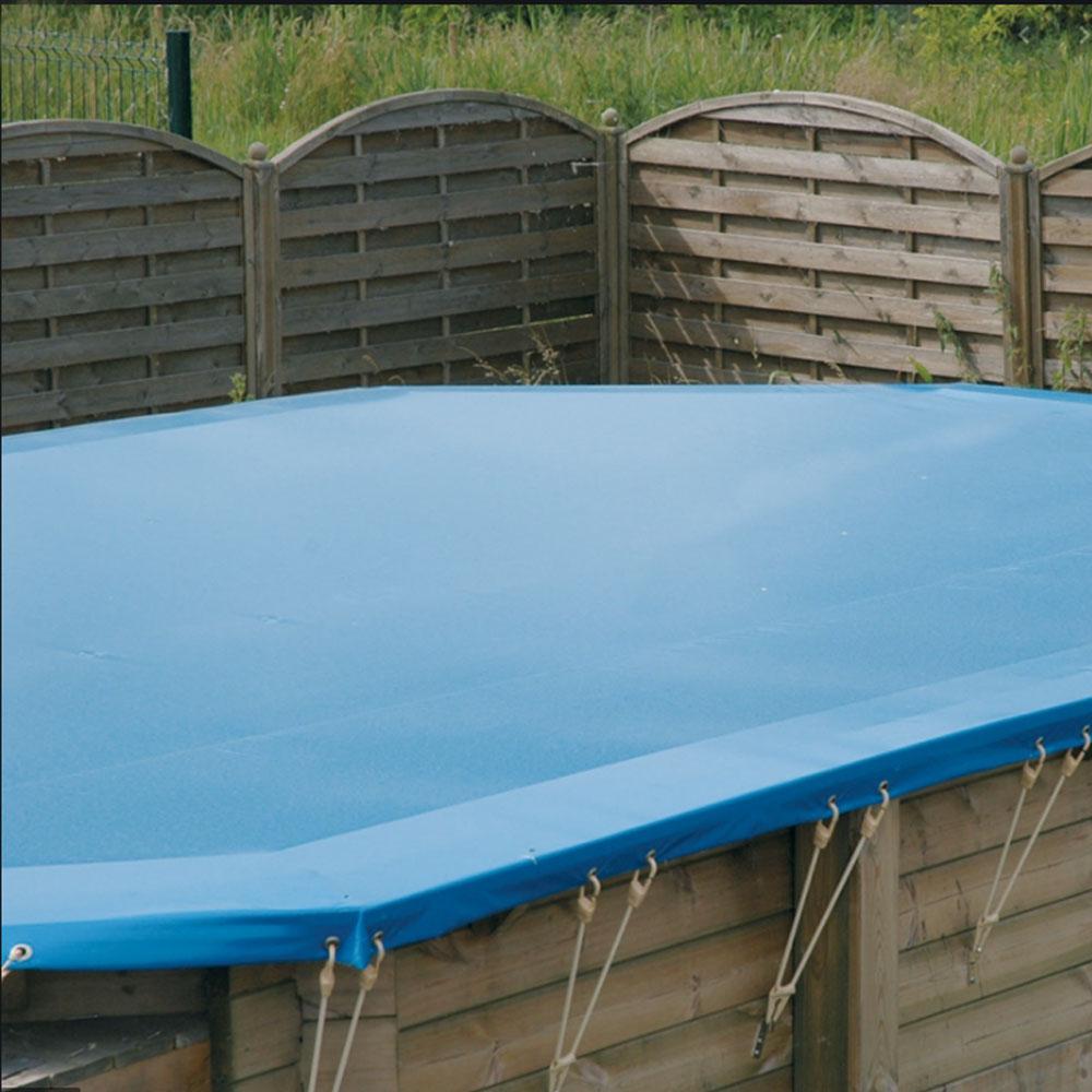 Baches hiver pour piscine bois original 436 x 336