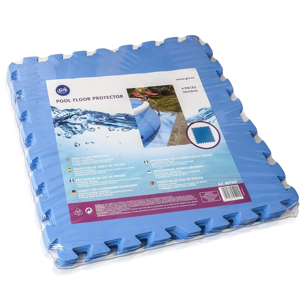 Dalles de protection pour piscine hors-sol Gré