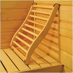 Dossier confort bois pour sauna