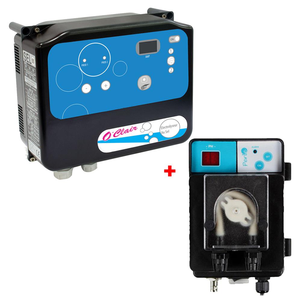 Électrolyseur plus régulateur pH O'Clair Série S