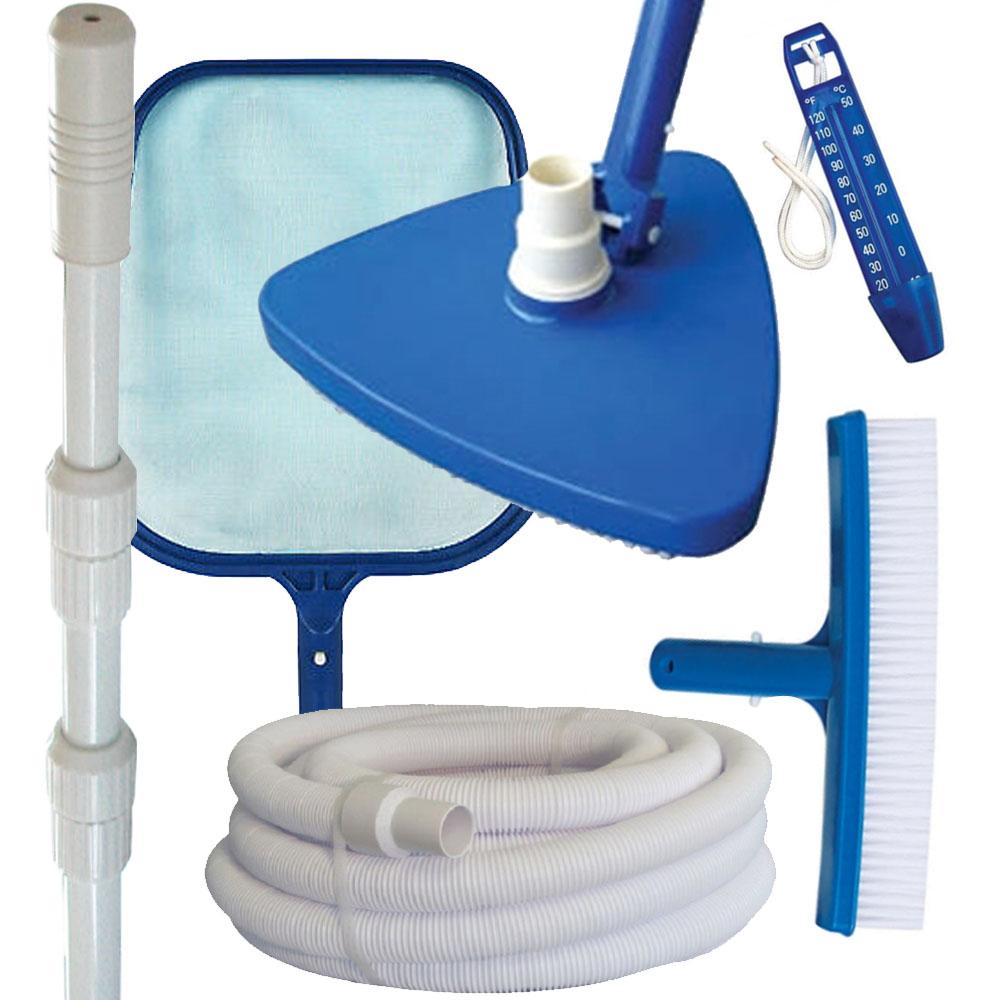 Kit complet accessoires d'entretien piscine