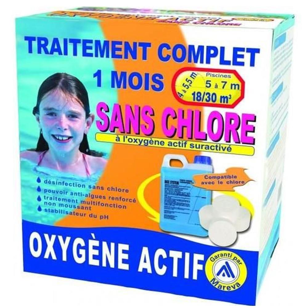 Kits de traitements sans chlore pour piscines