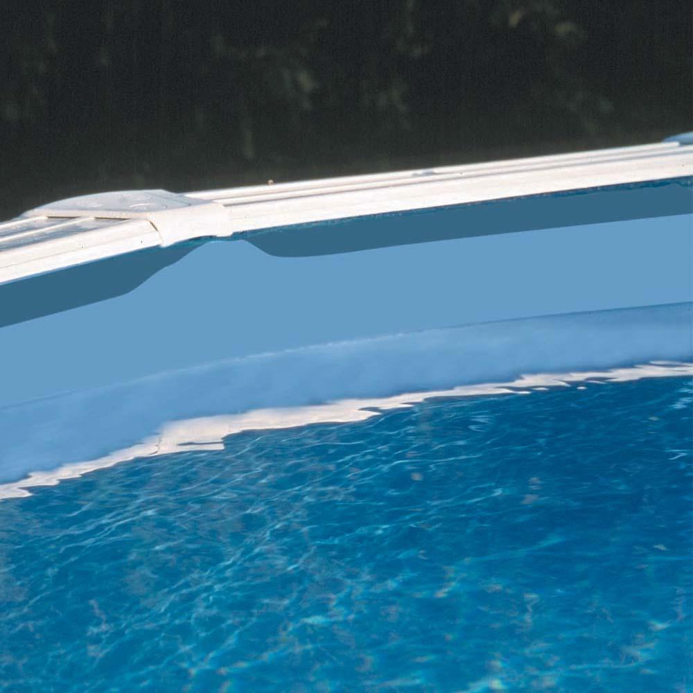 Liner 40/100 bleu jonc d'accroche pour piscine hors-sol GRE