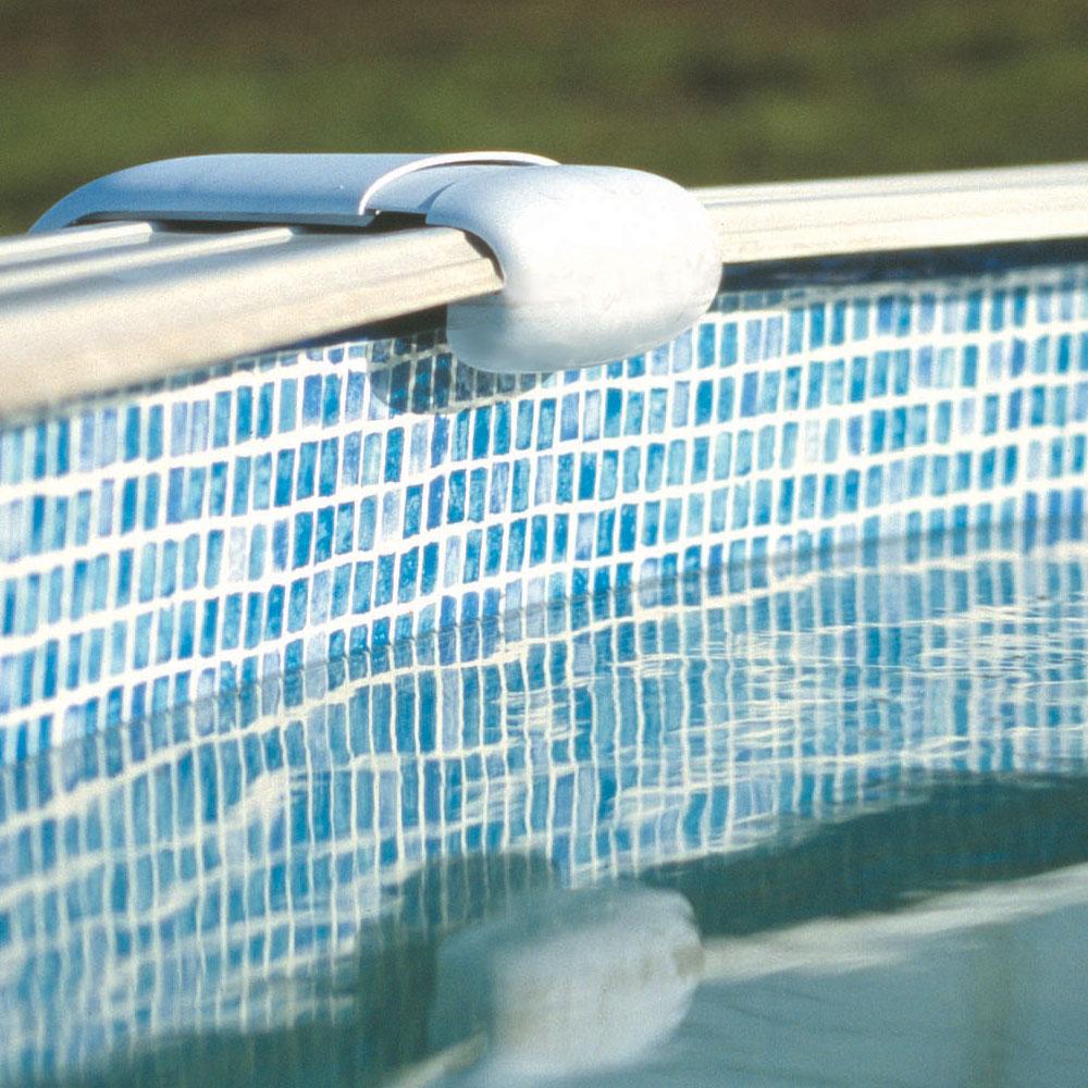 Liner 50/100 Mosaïque jonc d'accroche pour piscine hors-sol GRE