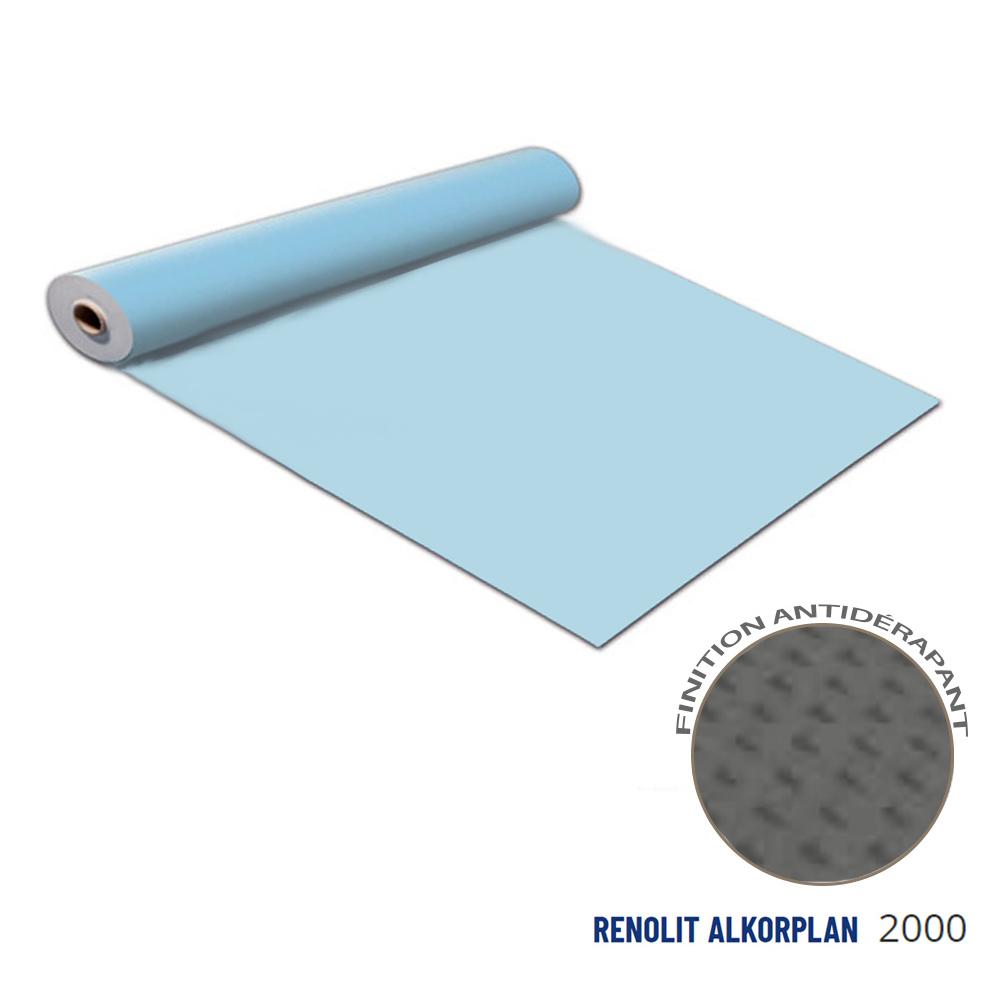 Liner antidérapant bleu clair 180/100 ème