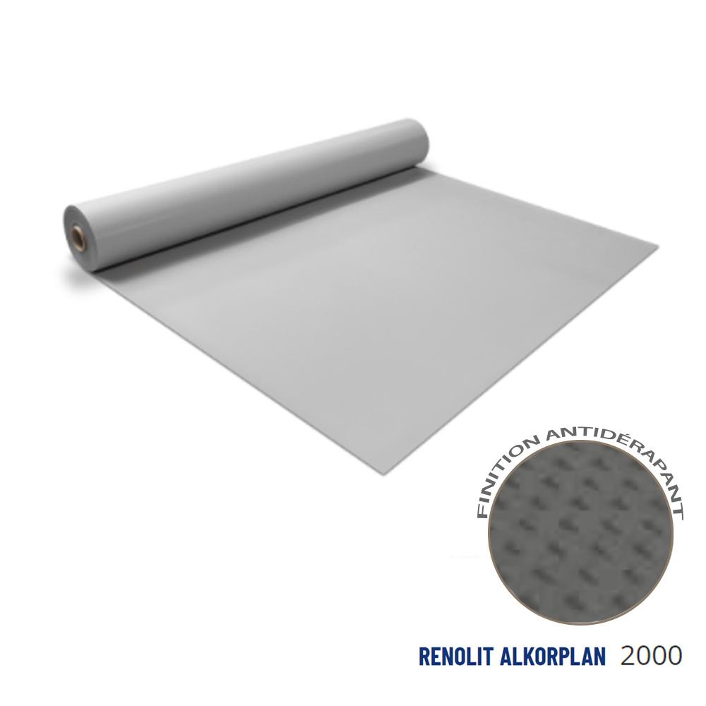 Liner antidérapant gris clair 180/100 ème