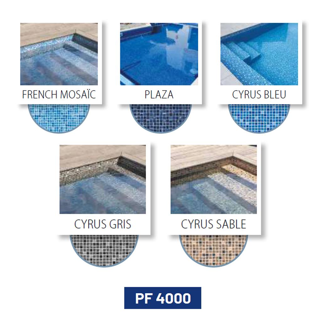 Liner armé imprimé mosaïque 150/100 ème pour piscines