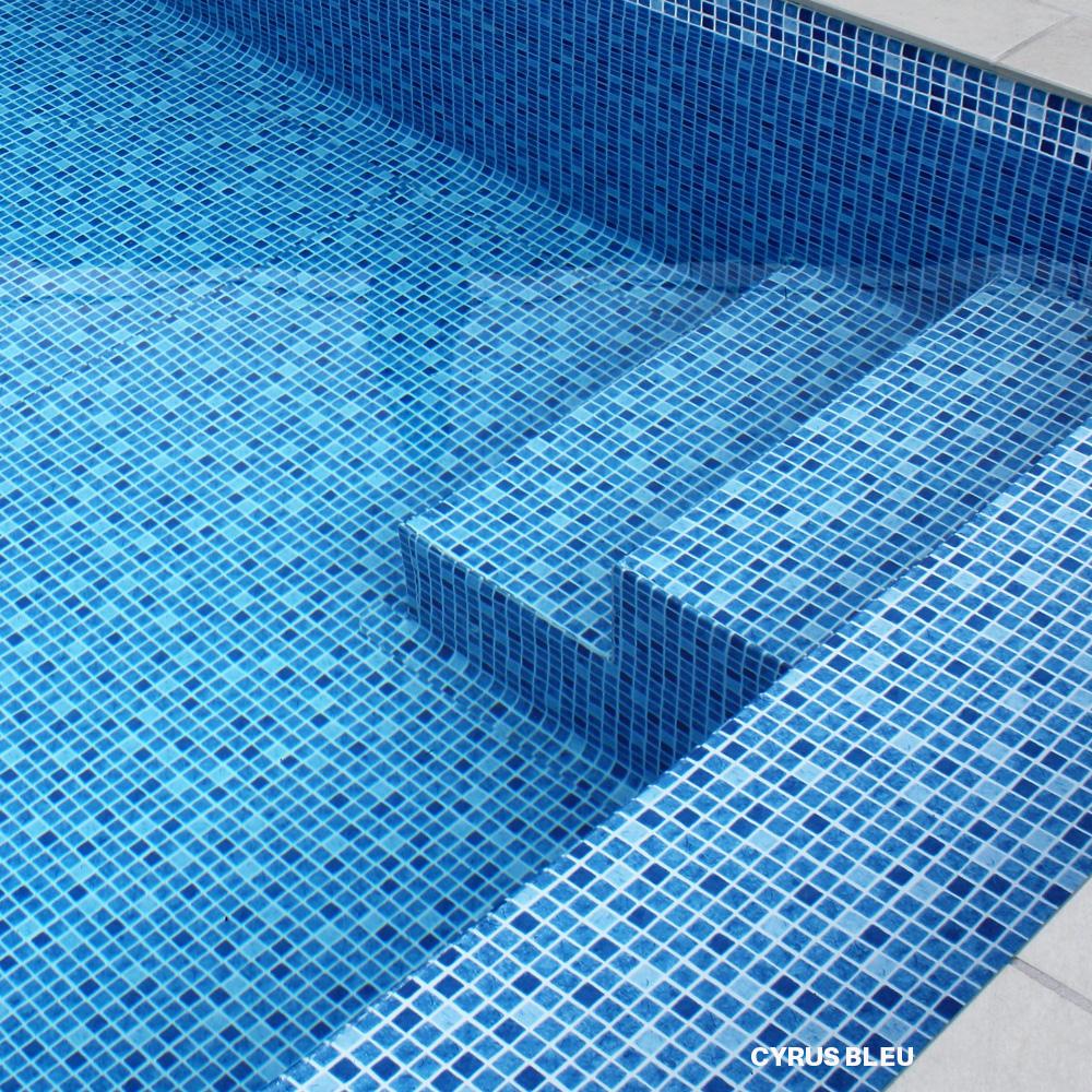 Liner imprimé mosaïque PF4000 Cyrus Bleu