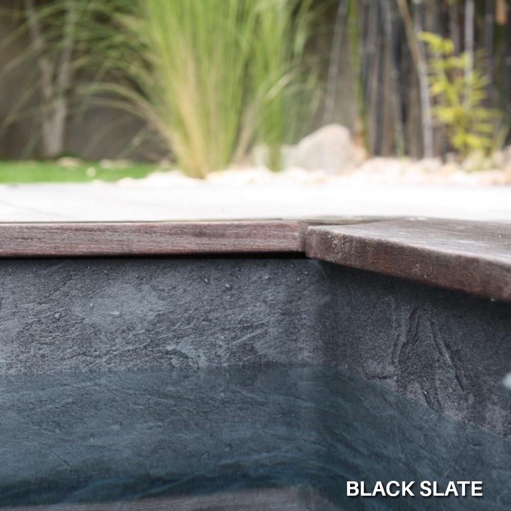 Liner imprimé texturé Aquasense Black Slate