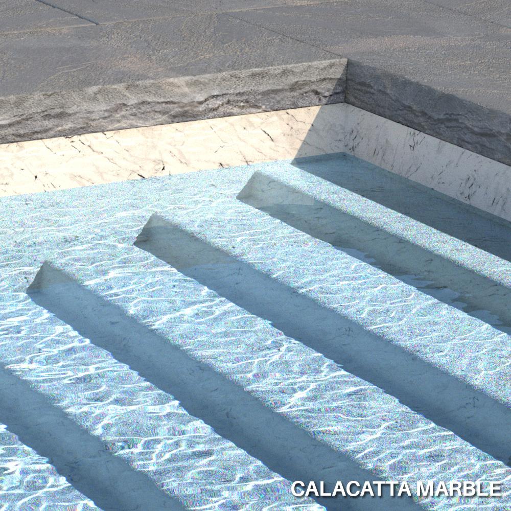 Liner imprimé texturé Aquasense Calacatta Marble