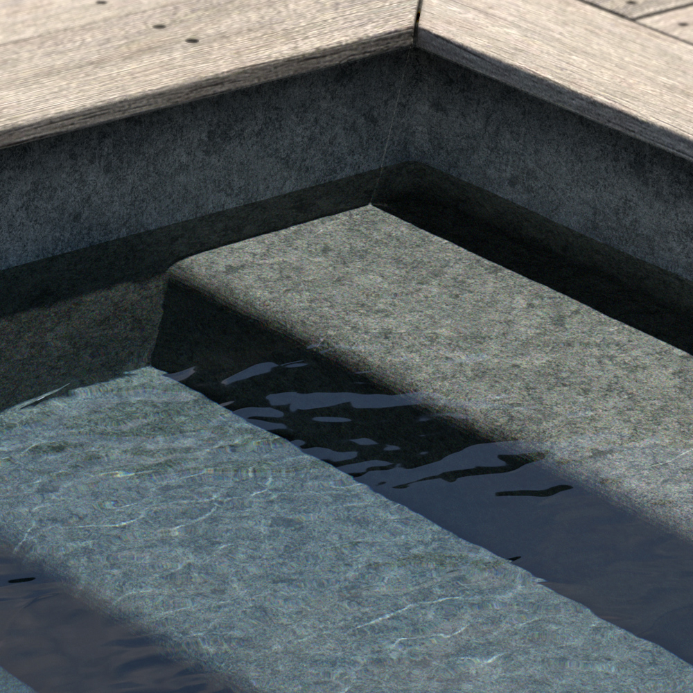 Liner imprimé texturé Aquasense Granit Gris