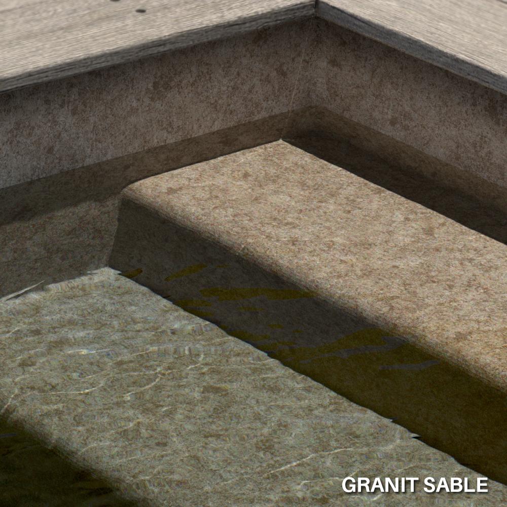 Liner imprimé texturé Aquasense Granit Sable