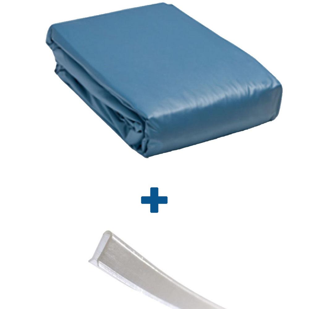 Liner Overlap 45/100ème bleu uni + baguettes
