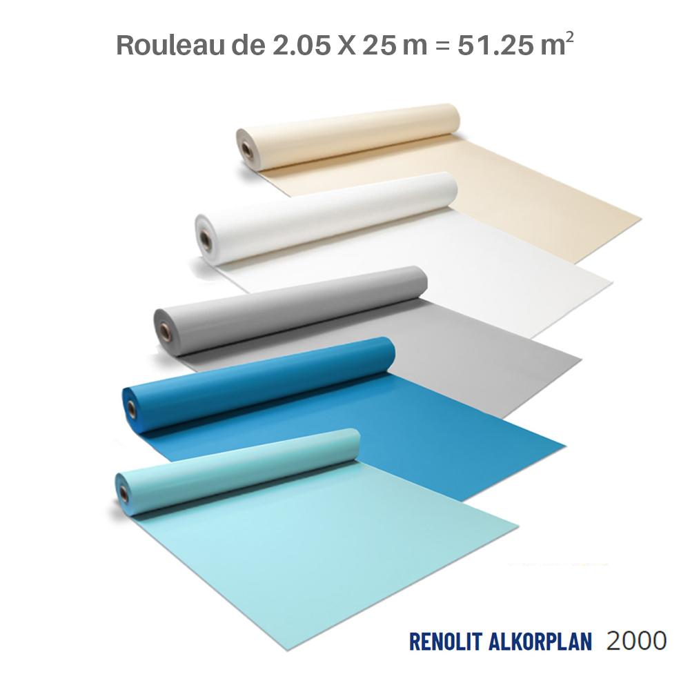Liner Renolit Alkorplan 2000 - rouleau de 2.05 X 25 m = 51.25 m²