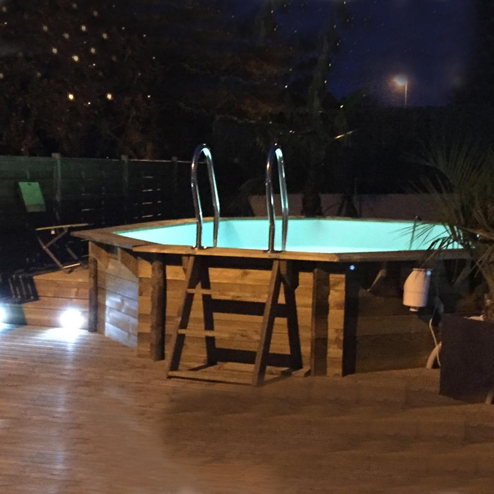 Piscine bois Woodfirst Vanille Premium Plus 410 x 120 cm