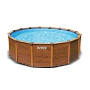 Tuyaux bache de piscine intex sequoia bois - Piscine intex aspect bois ...