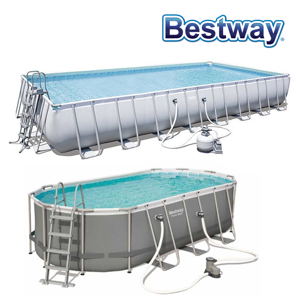 Piscine tubulaire Power Steel Finition Grise