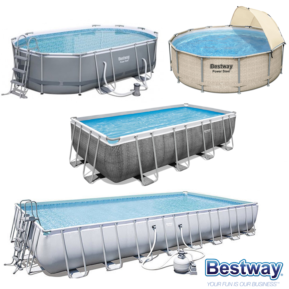 Piscine tubulaire Power Steel Frame Bestway
