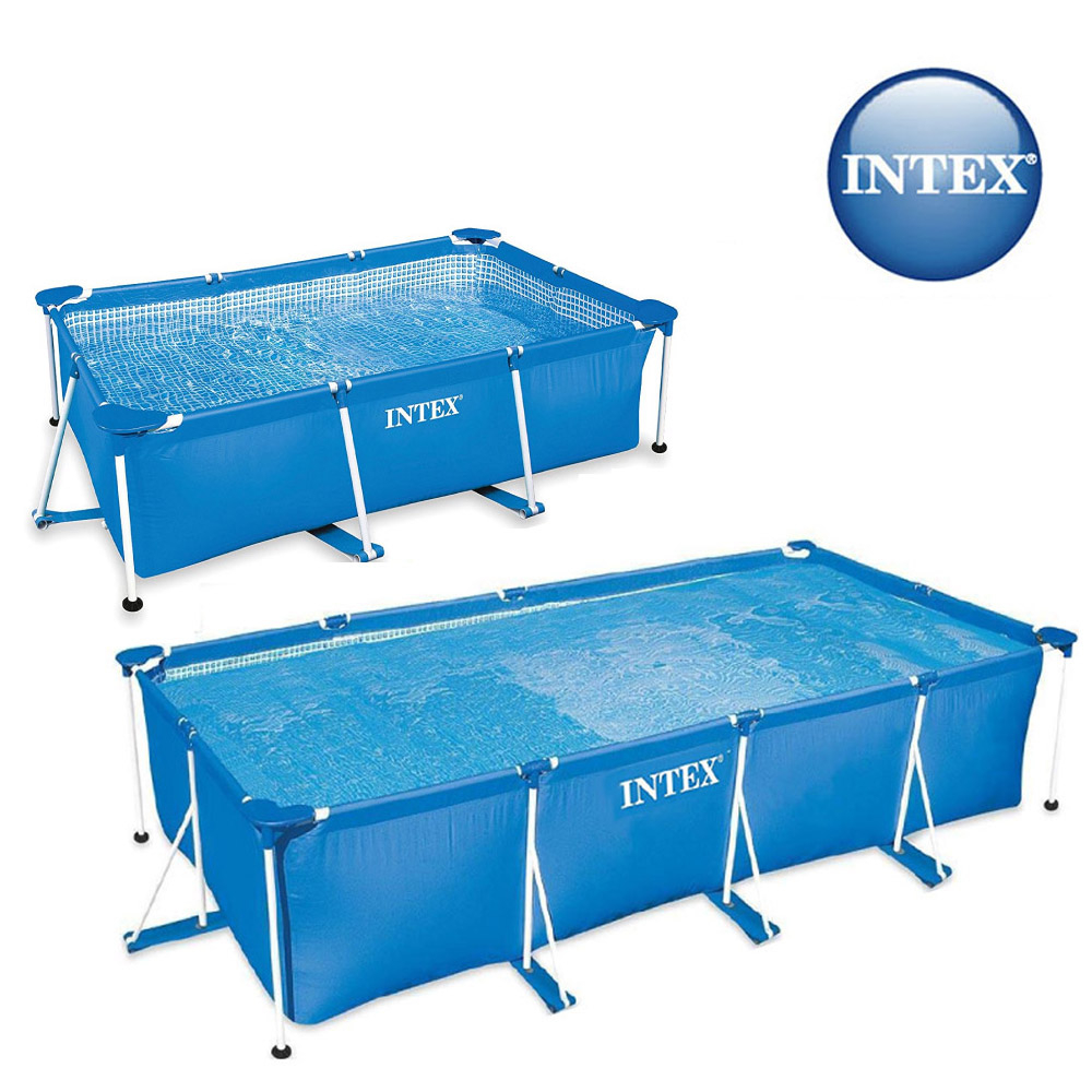 Piscine tubulaire Rectangulaire Metal Frame Junior Intex