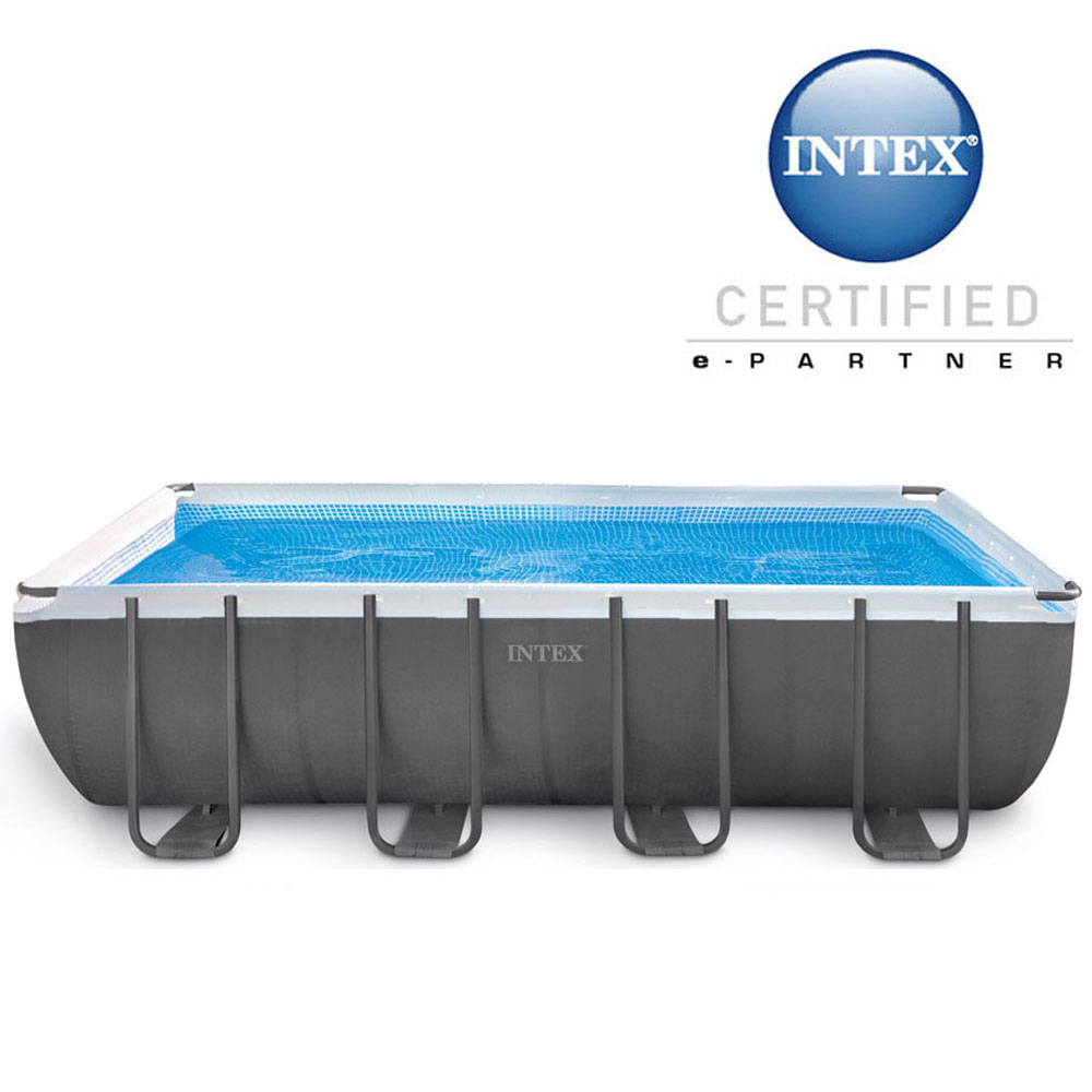 Piscine tubulaire rectangulaire Ultra Silver Intex