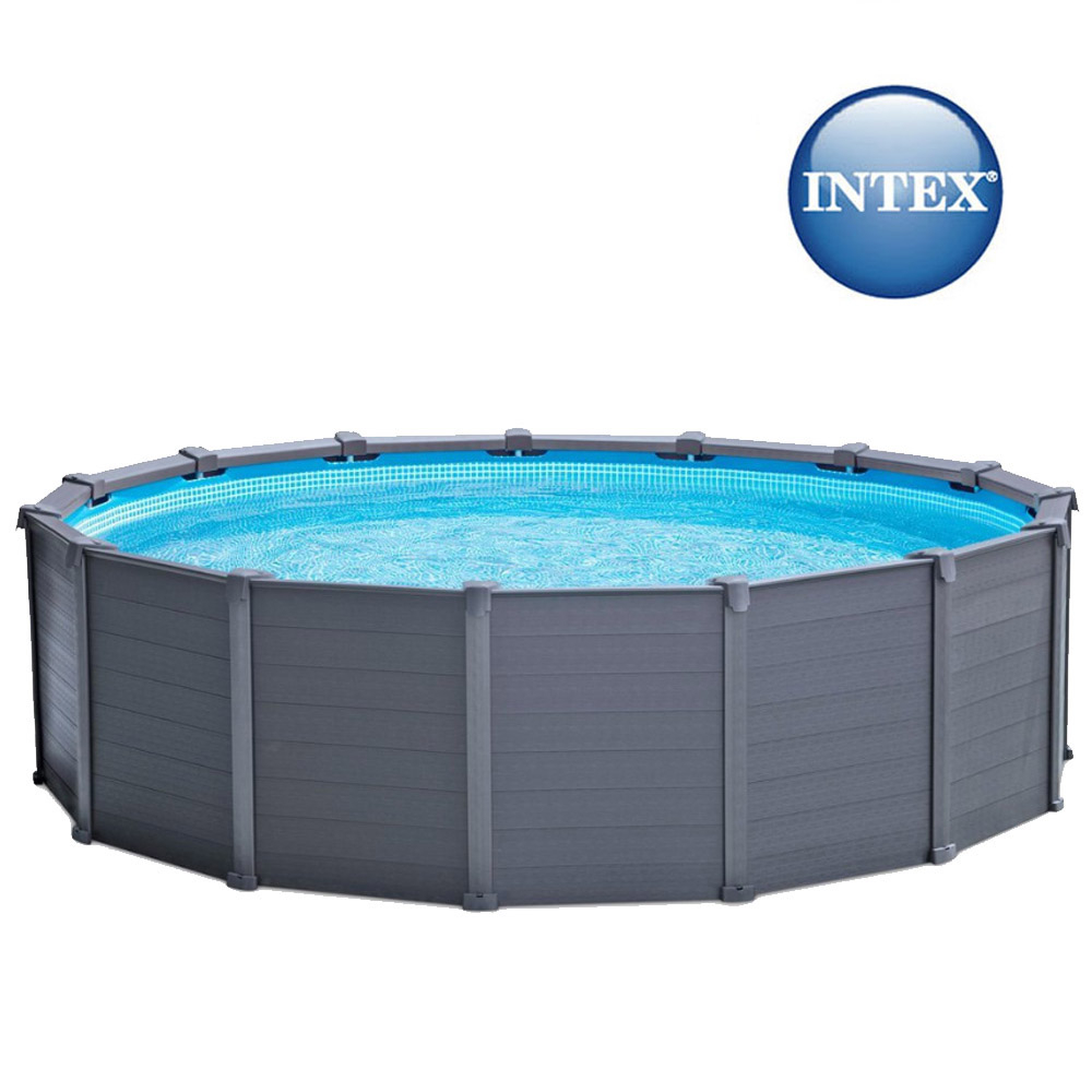 Piscine tubulaire ronde Graphite Intex