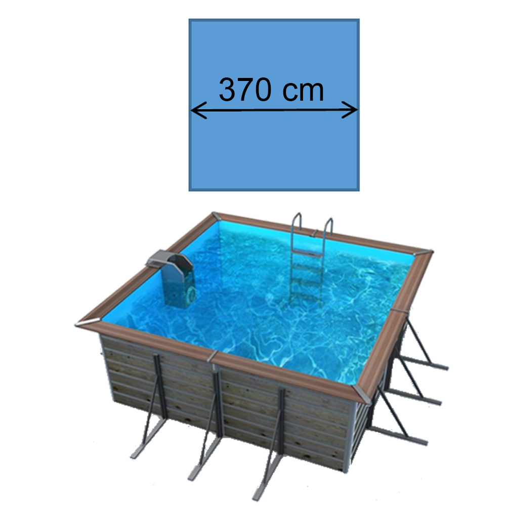 Piscine waterclip Egine 370 x 370 x 147 cm