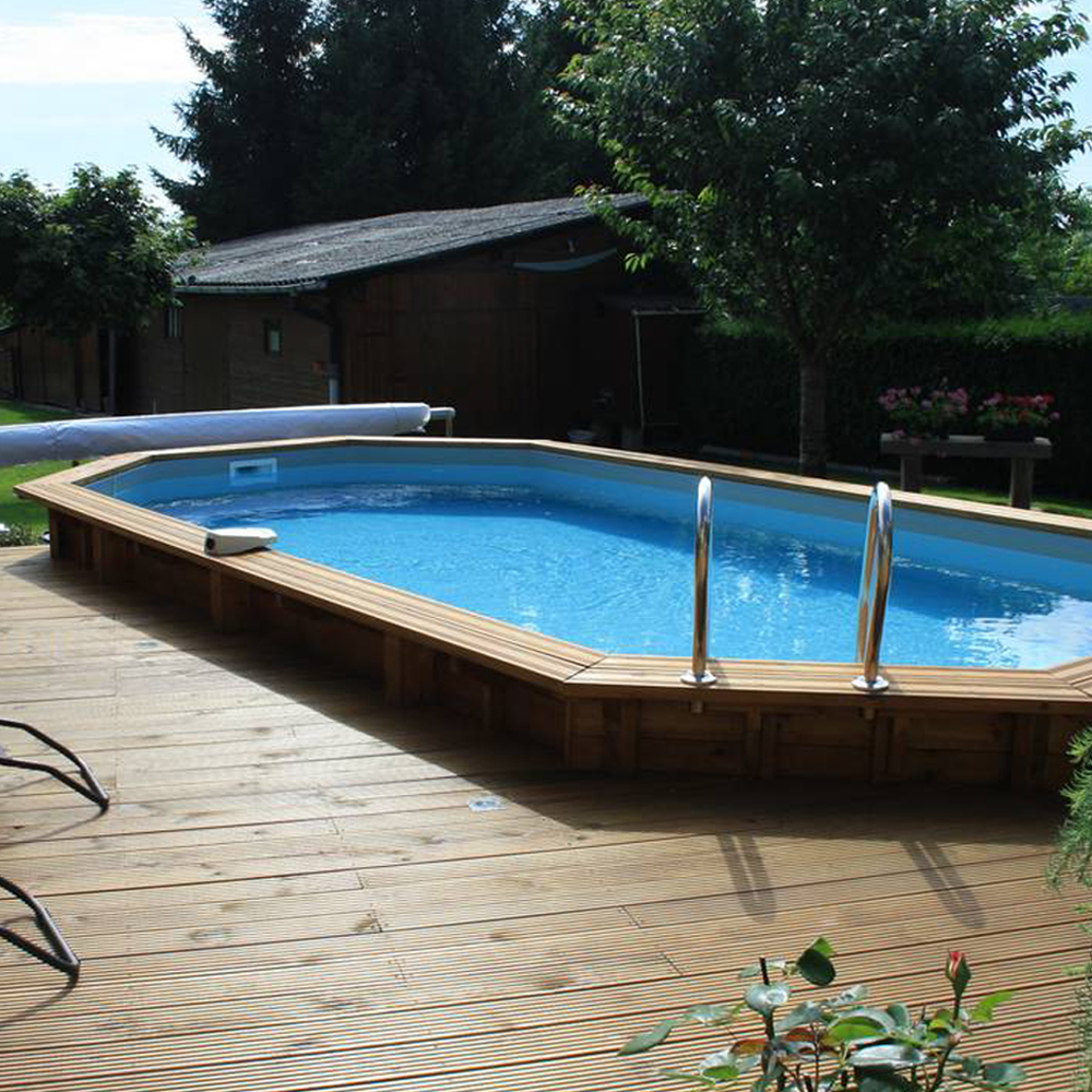 Piscine Woodfirst Original octo allongée 735 x 410 x 138 cm