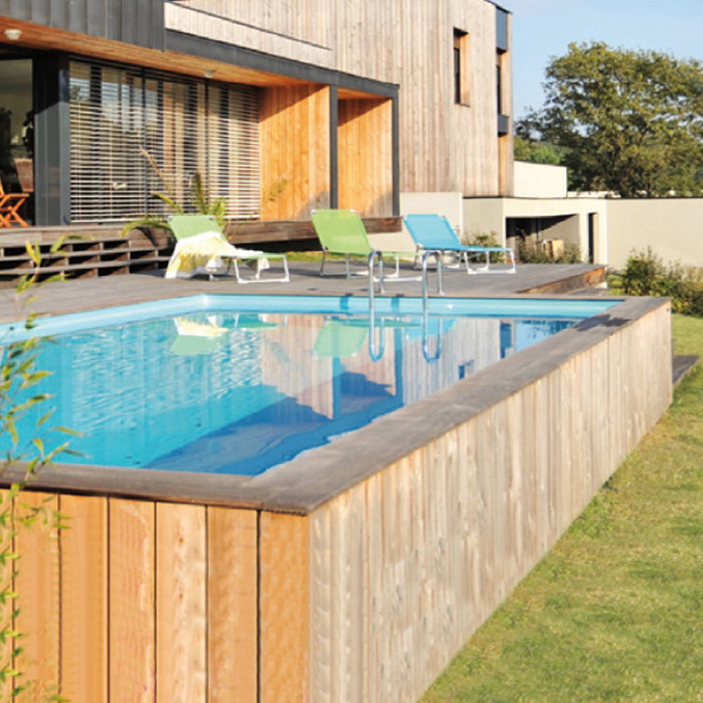 Piscine Woodfirst Original rectangulaire 427 x 277 x 119 cm